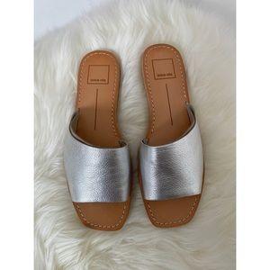 NWT Dolce Vita Cato Slides in Silver